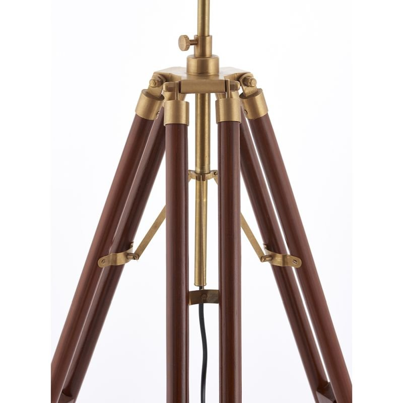 Endon-EH-TRIPOD-FLDW - Tripod - Floor Lamp Base Only - Wood & Gold