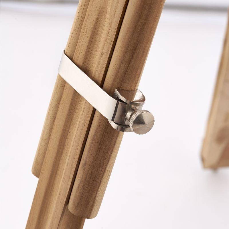 Endon-EH-TRIPOD-FLNA - Tripod - Floor Lamp Base Only - Light Wood & Bright Nickel