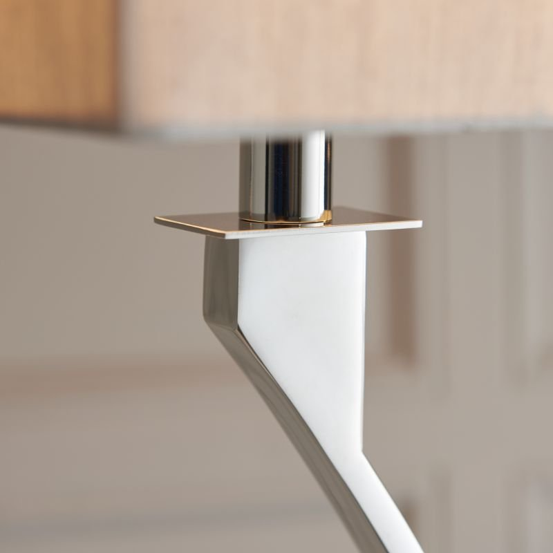 Endon-Collection-63747 - Vienna - Beige & Polished Nickel 2 Light Floor Lamp