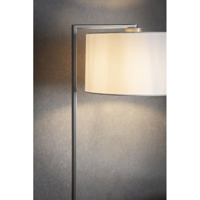 Endon-Collection-69052 - Daley - Vintage White Shade & Nickel Floor Lamp