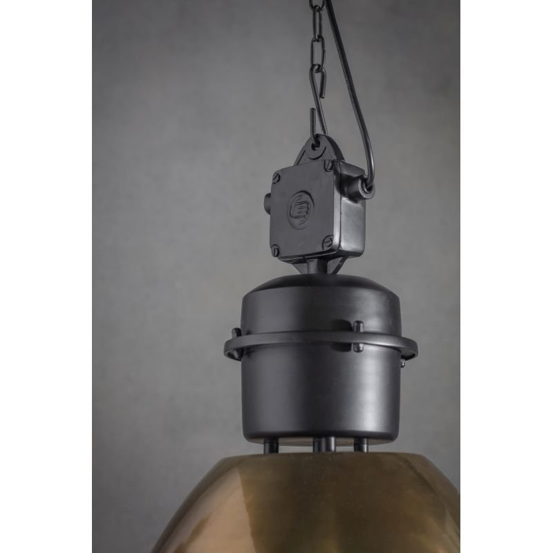 Endon-Collection-69773 - Ford - Antique Brass & Black Single Pendant