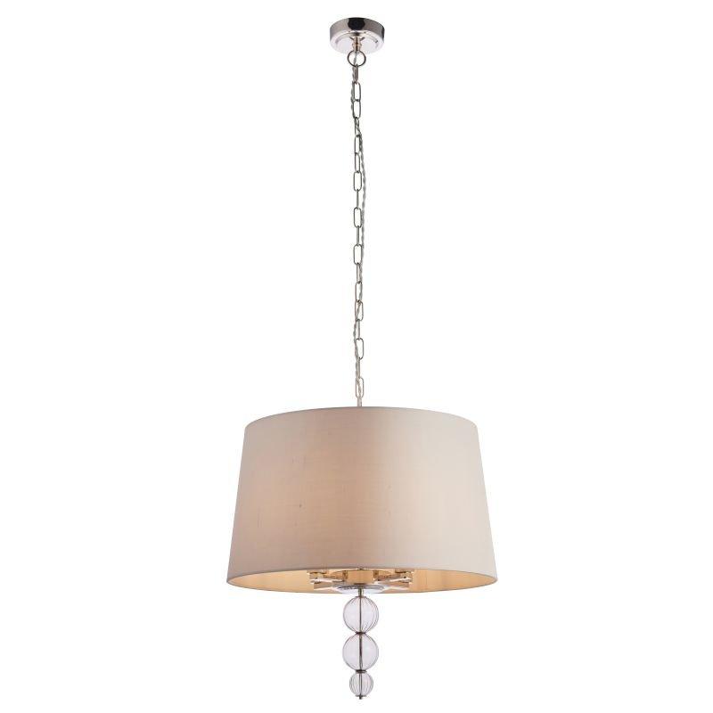 Endon-Collection-70476 - Darlaston - Grey Shade & Polished Nickel 4 Light Pendant