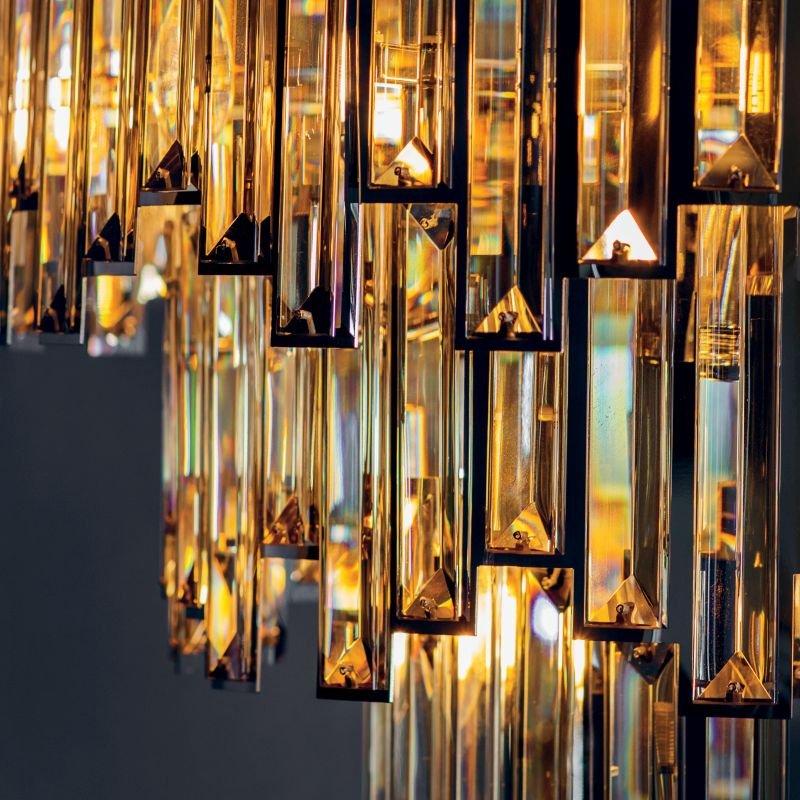 Endon-Collection-72746 - Viviana - Champagne Crystal & Chrome 15 Light Pendant
