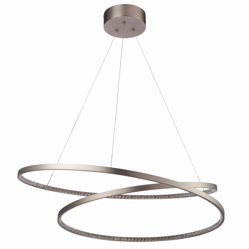 Endon-Collection-72969 - Eternity - LED Crystal & Matt Nickel Pendant