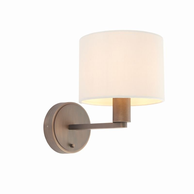 Endon-Collection-73018 - Daley - Marble Faux Silk & Antique Bronze Wall Lamp