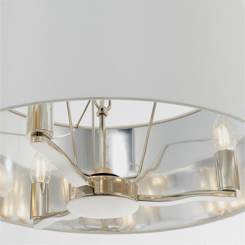 Endon-Collection-73021 - Harvey - Vintage White & Bright Nickel 3 Light Pendant