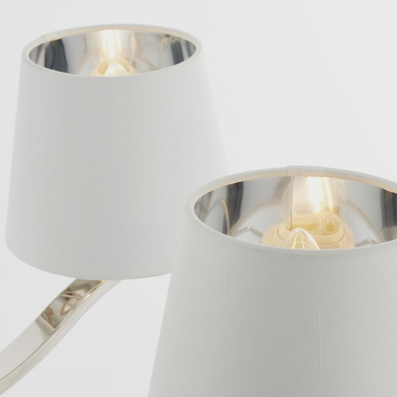 Endon-Collection-73022 - Harvey - Vintage White & Bright Nickel 5 Light Centre Fitting