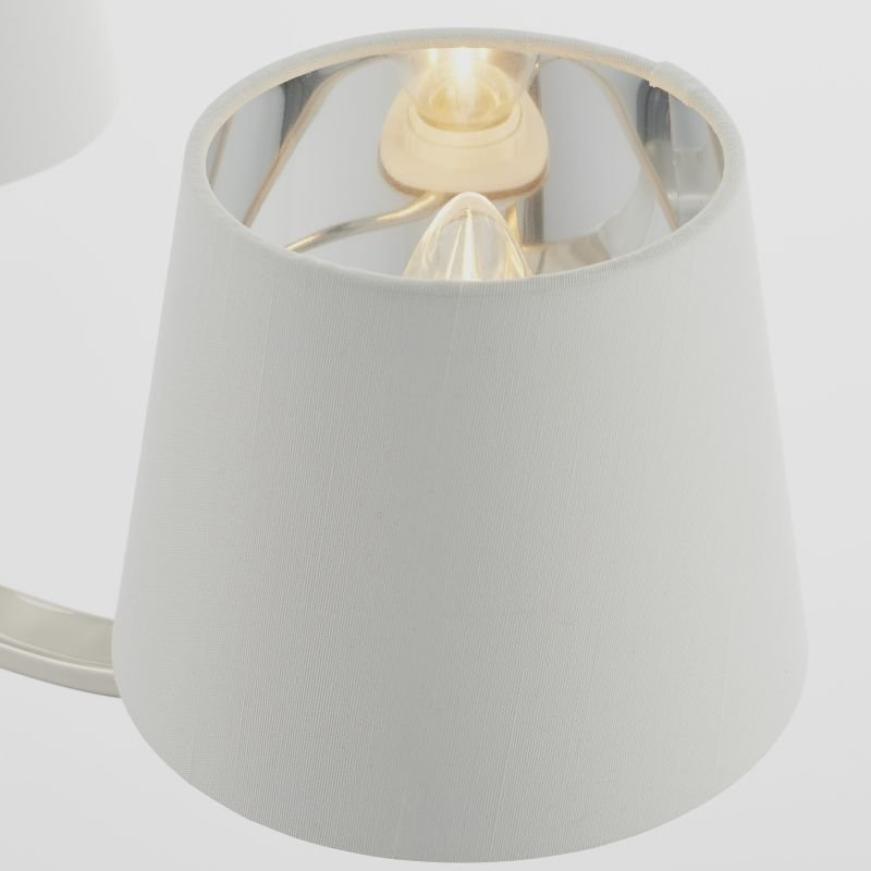 Endon-Collection-73023 - Harvey - Vintage White & Bright Nickel 3 Light Centre Fitting