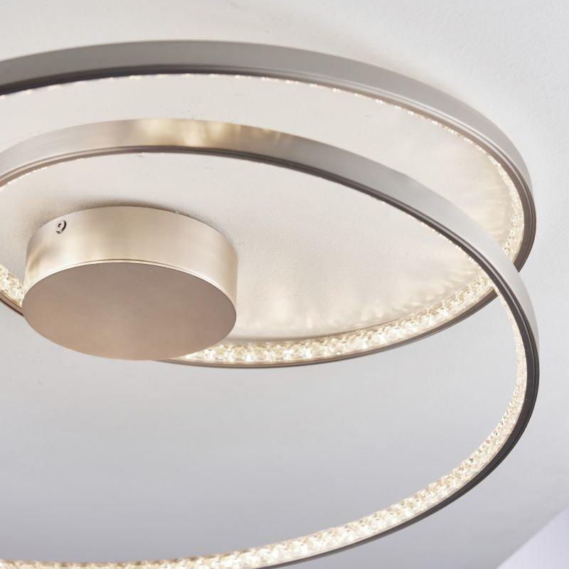 Endon-Collection-73047 - Eternity - LED Crystal & Matt Nickel Flush
