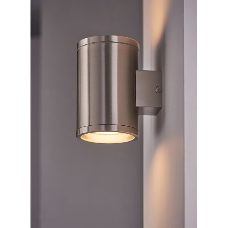 Endon-Collection-73194 - Nio - LED Marine Grade Brushed Stainless Steel Up&Down Wall Lamp