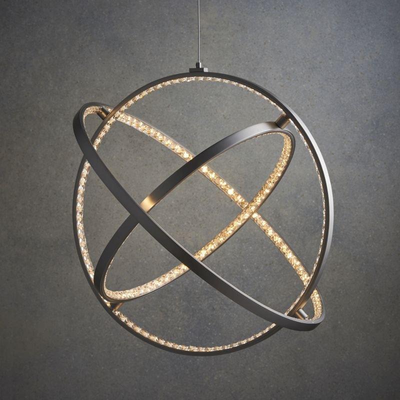 Endon-Collection-74729 - Eternity - LED Crystal & Matt Nickel Pendant