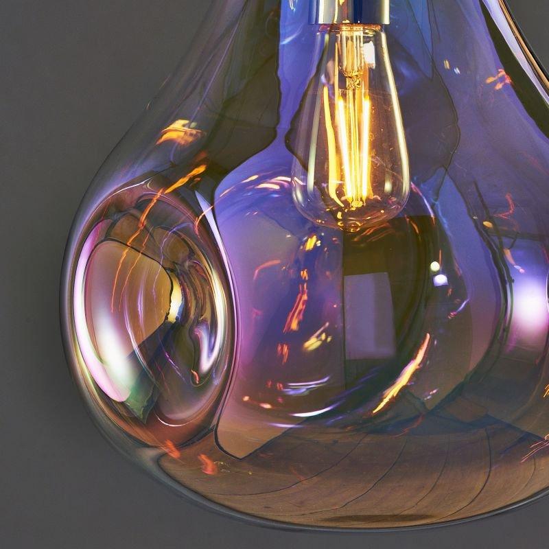 Endon-Collection-75664 - Lava - Multicolour Dimpled Glass & Chrome Pendant