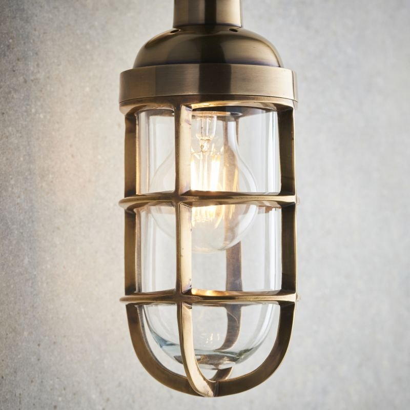Endon-Collection-75793 - Elcot - Burnished Brass & Clear Glass Wall Lamp