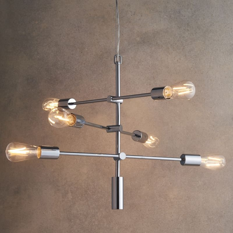 Endon-Collection-75940 - Rubens - Polished Chrome 6 Light Centre Fitting