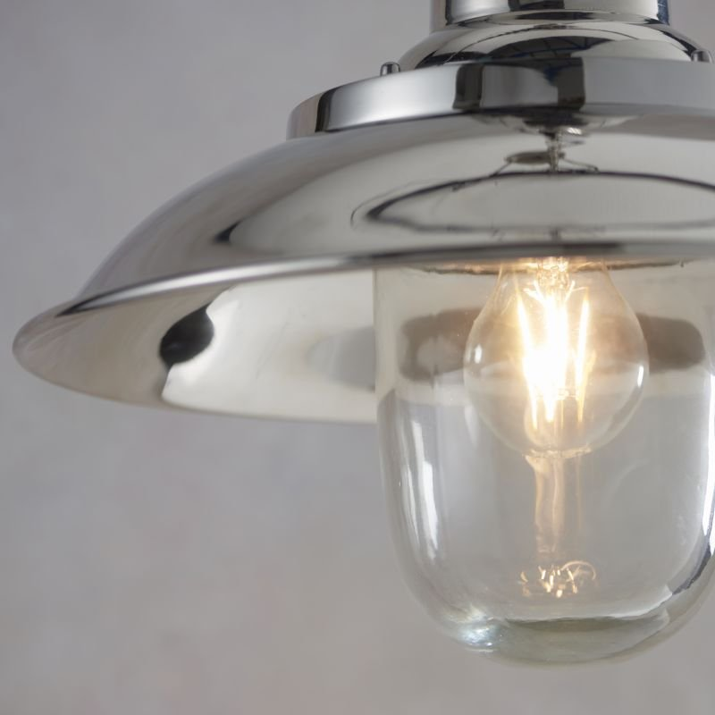 Endon-Collection-75957 - Langley - Bright Nickel & Clear Glass Fisherman Pendant