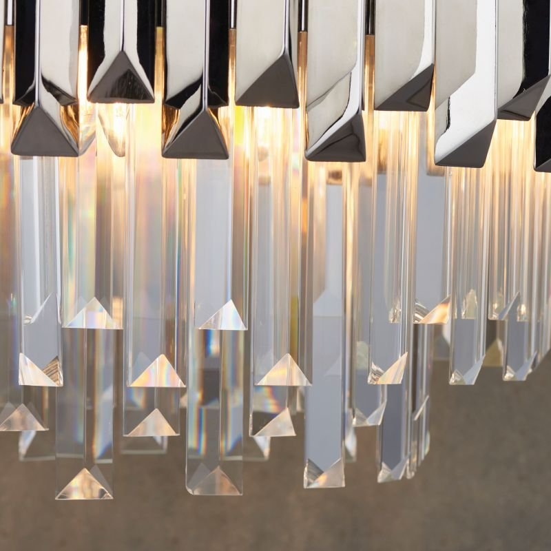 Endon-Collection-76430 - Valetta - Crystal & Polished Nickel 6 Light Chandelier