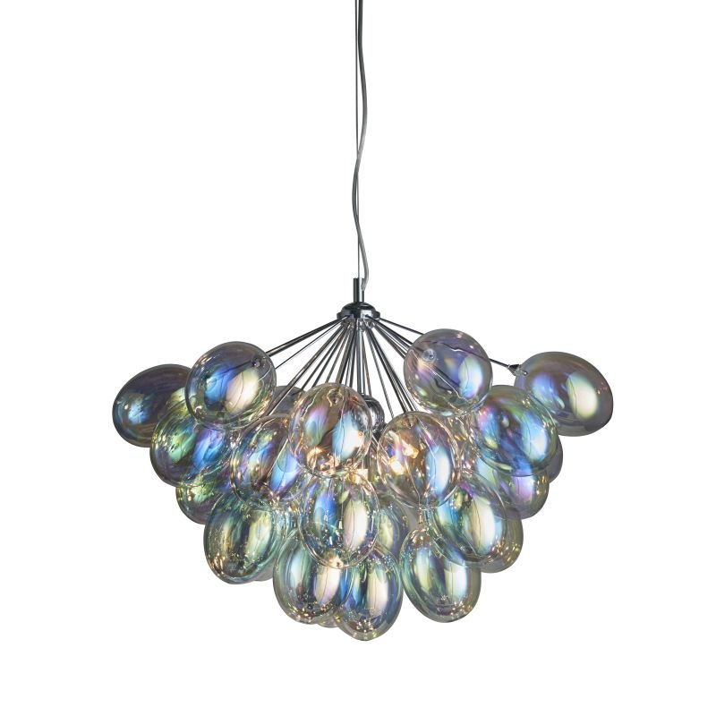 Endon-Collection-76450 - Infinity - Multicolored Glass & Chrome 6 Light Centre Fitting