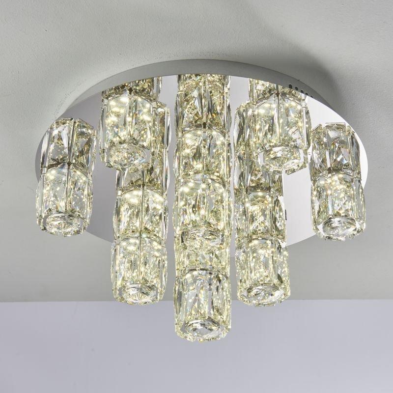 Endon-Collection-76479 - Prisma - LED Crystal & Chrome Semi Flush