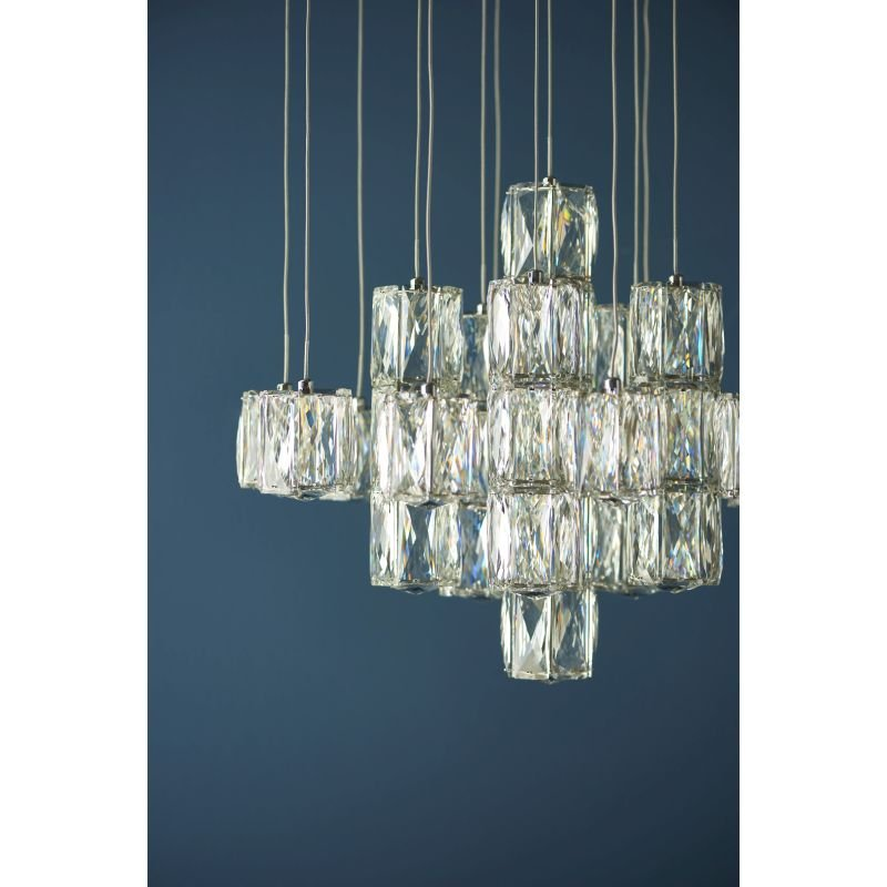 Endon-Collection-76489 - Prisma - LED Crystal & Chrome Cluster Pendant