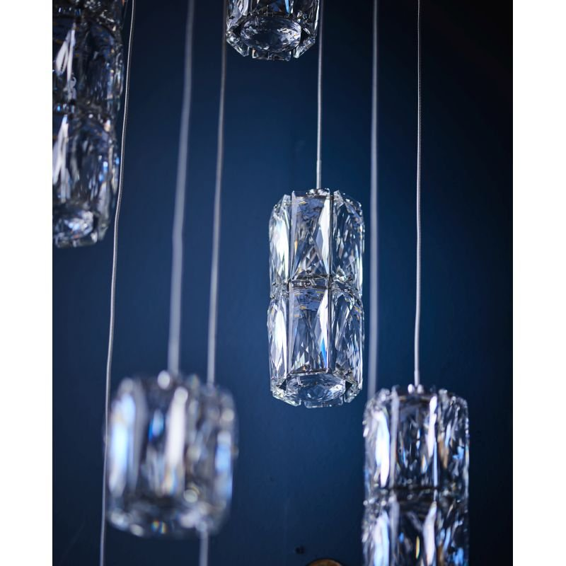 Endon-Collection-76490 - Prisma - LED Crystal & Chrome Cluster Pendant