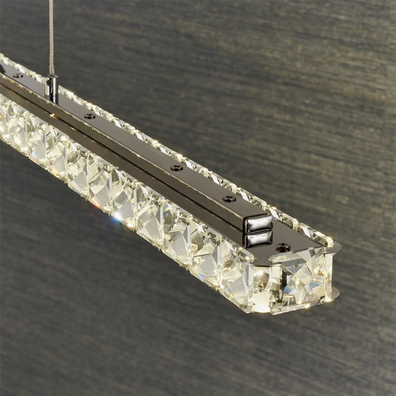 Endon-Collection-76491 - Prisma - LED Crystal & Chrome Linear over Island Fitting