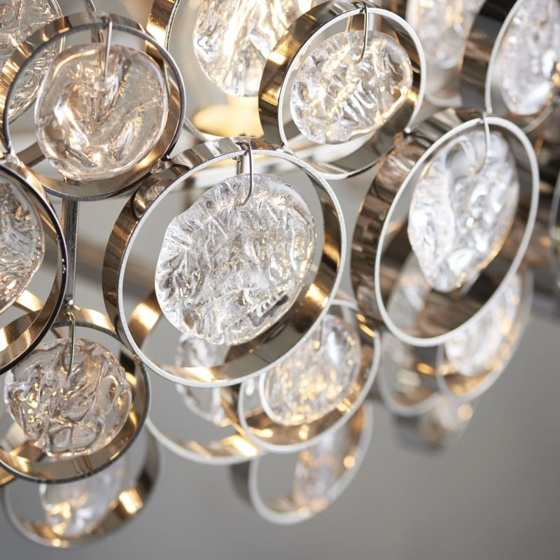 Endon-Collection-76508 - Marella - Clear Medallions & Bright Nickel 6 Light Pendant
