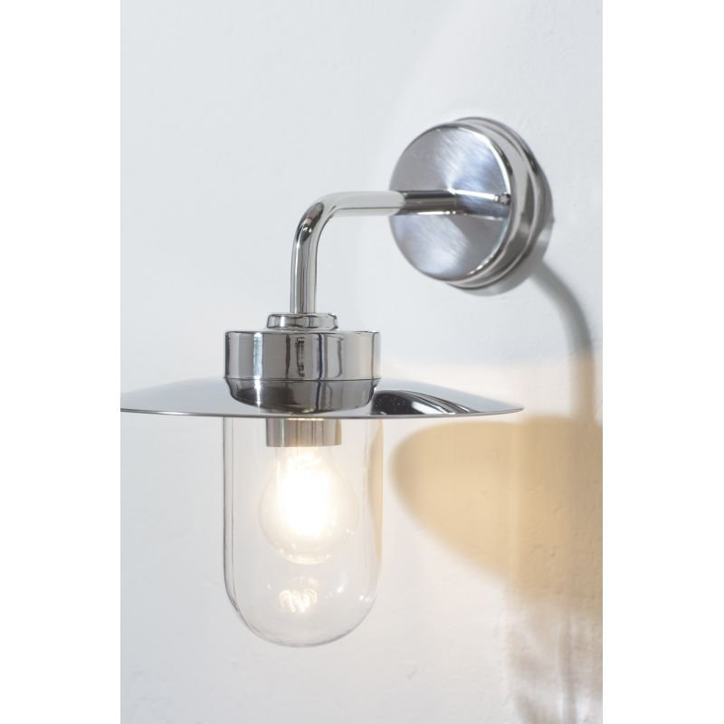 Endon-Collection-76597 - Addison - Polished Stainless Steel & Clear Glass Wall Lamp