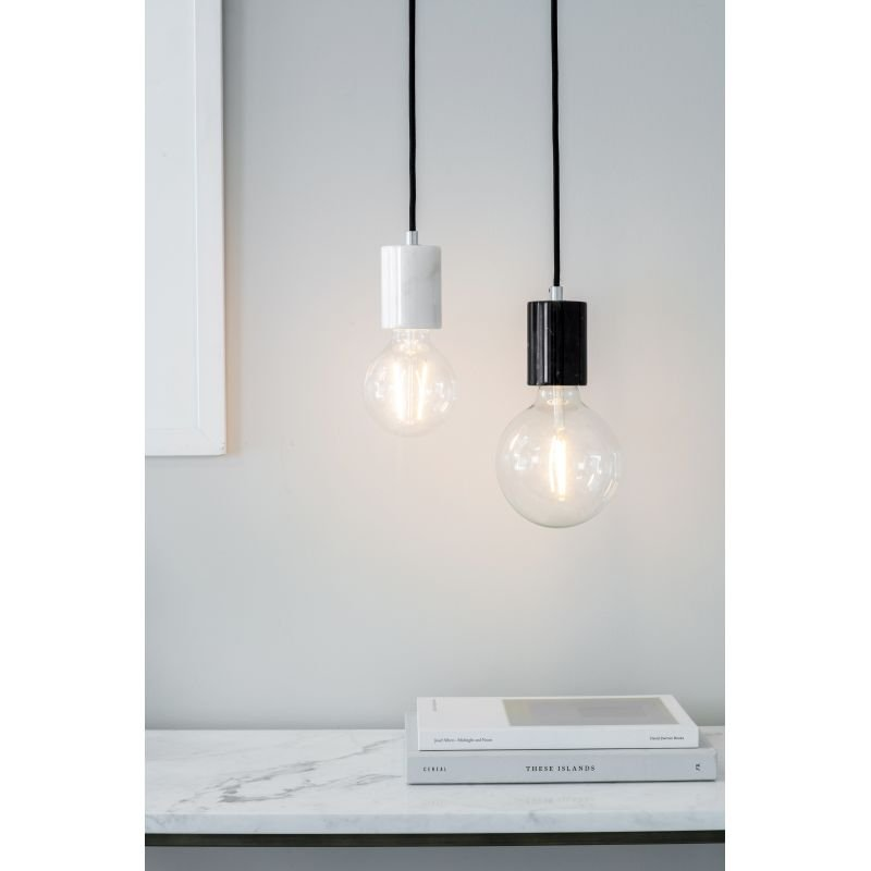 Endon-Collection-76607 - Otto - Polished White Marble Pendant