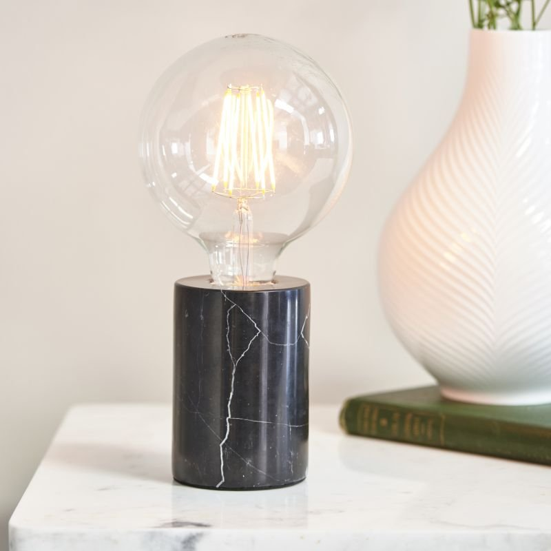 Endon-Collection-76609 - Otto - Polished Black Marble Table Lamp