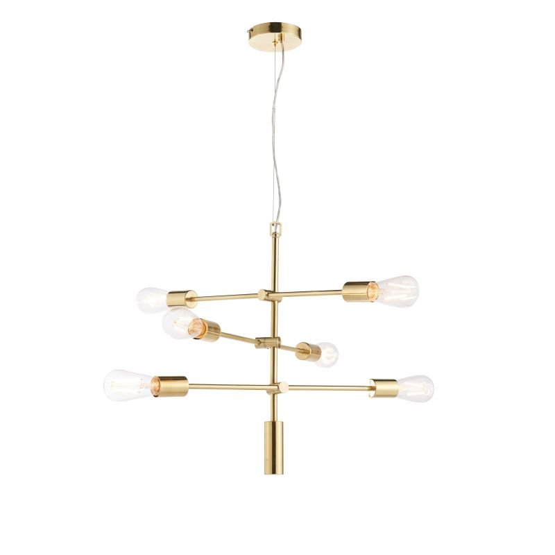 Endon-Collection-77114 - Rubens - Brushed Brass 6 Light Centre Fitting