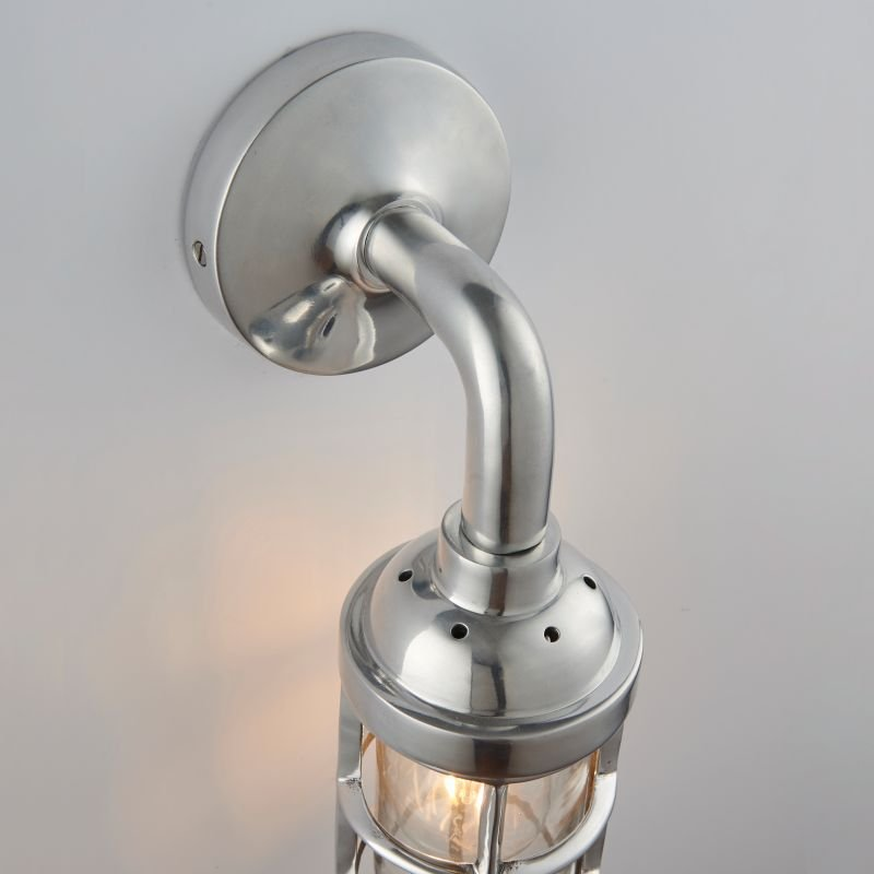 Endon-Collection-77276 - Elcot - Polished Cast Aluminium & Glass Wall Lamp