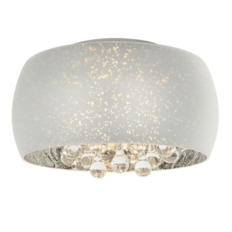 Endon-Collection-78696 - Eclipse - Striking Glass with Crystal 3 Light Ceiling Lamp