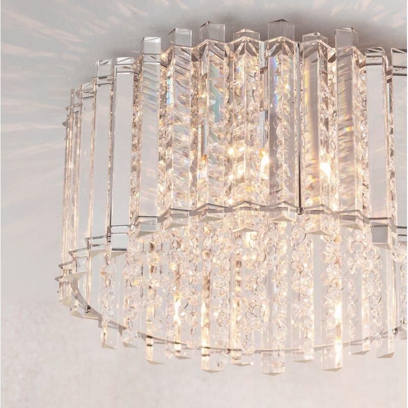 Endon-Collection-78698 - Hanna - Clear Crystal & Chrome 4 Light Ceiling Lamp