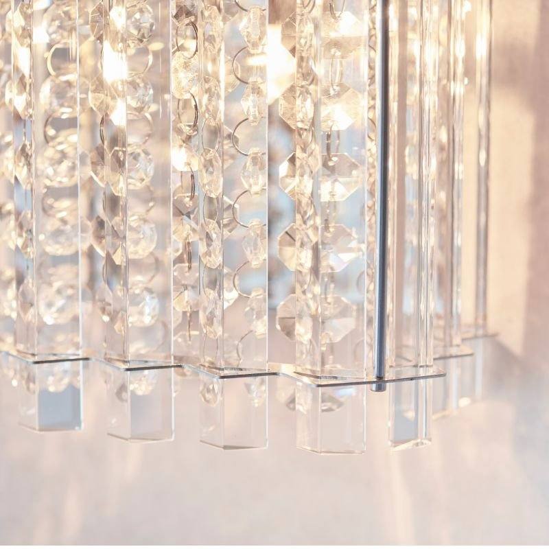Endon-Collection-78700 - Hanna - Clear Crystal & Chrome Wall Lamp