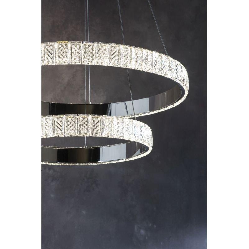 Endon-Collection-78701 - Celeste - LED Crystal & Chrome 2 Rings Pendant