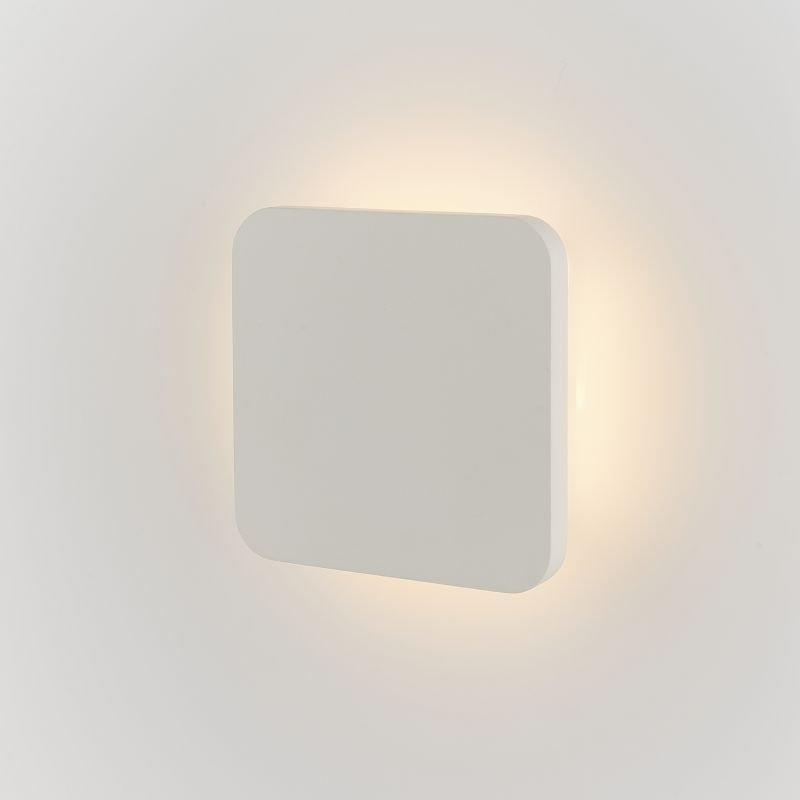 Endon-Collection-79880 - Viktor - LED White Plaster Square Wall Lamp