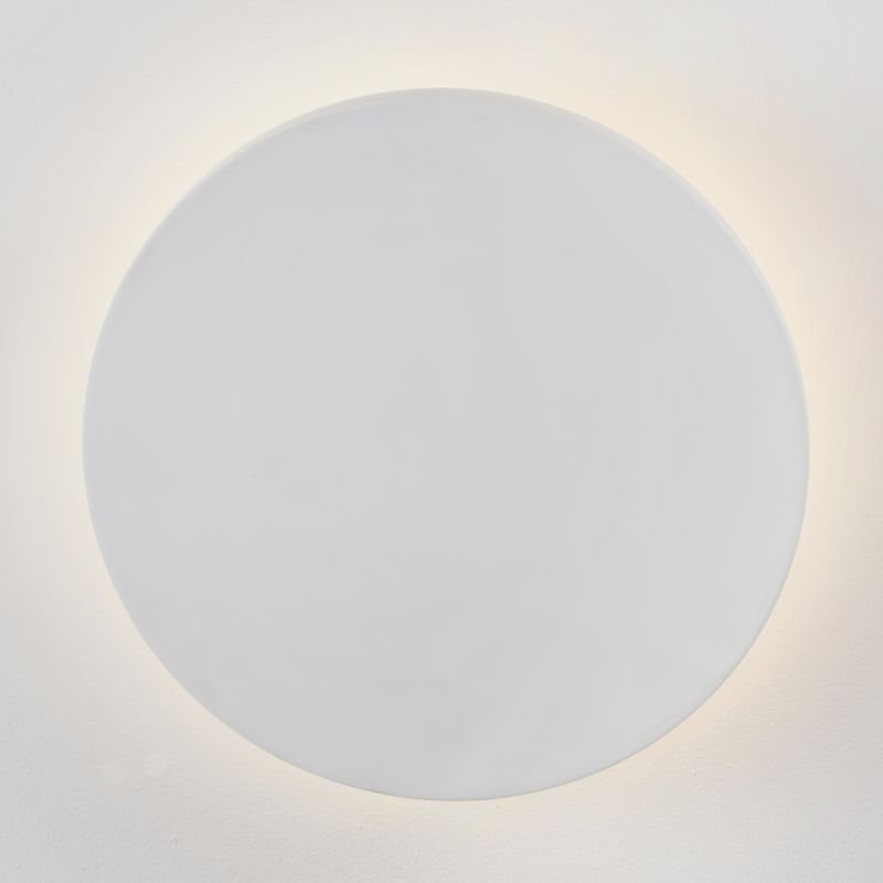 Endon-Collection-79891 - Rae 250 - LED White Plaster Round Wall Lamp