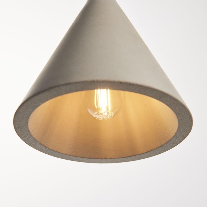 Endon-Collection-79902 - Jakob - Grey Concrete Single Pendant