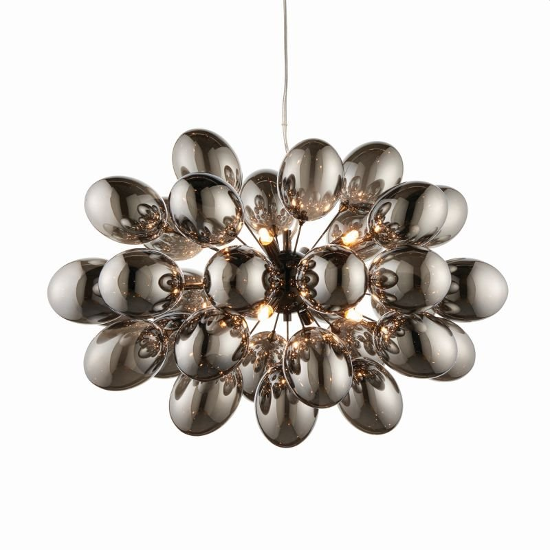Endon-Collection-80124 - Infinity - Smoky Glass & Dark Chrome 8 Light Centre Fitting