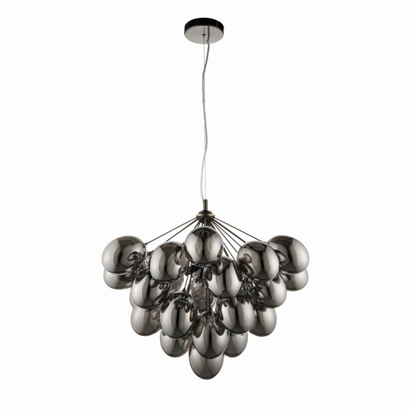 Endon-Collection-80199 - Infinity - Smoky Glass & Dark Chrome 6 Light Centre Fitting