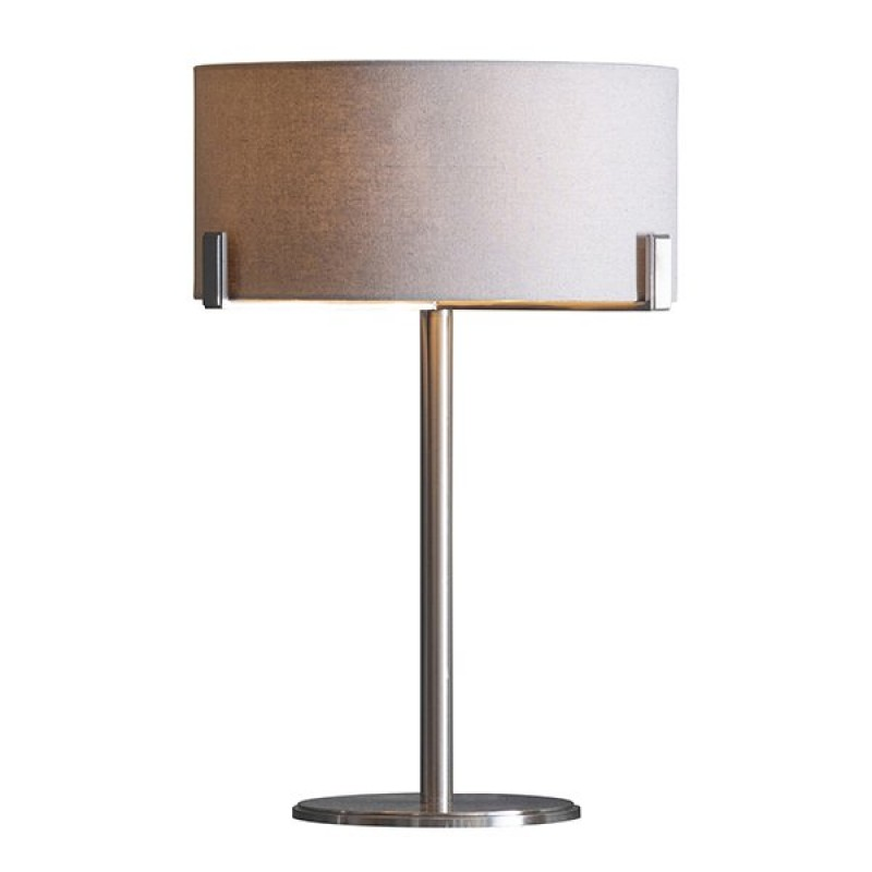 Endon-Collection-95832 - Hayfield - Slate Grey & Satin Nickel Table Lamp