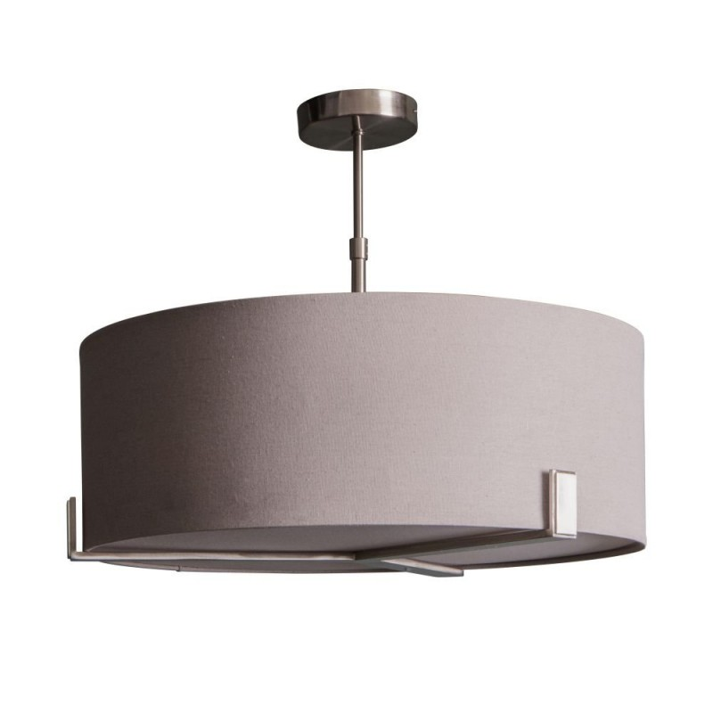 Endon-Collection-95834 - Hayfield - Slate Grey & Satin Nickel 3 Light Pendant