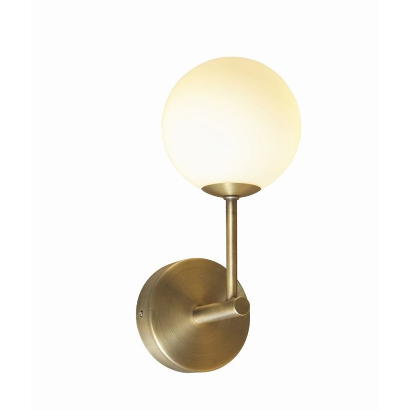 Endon-Collection-95840 - Otto - White Glass & Antique Brass Wall Lamp