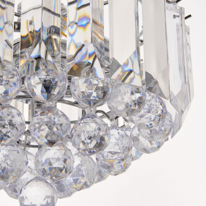 Endon-FARGO-12CH - Fargo - Chrome with Acrylic Detailing 3 Light Hanging Pendant