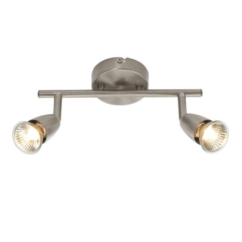 Saxby-G2521313 - Amalfi - Satin Nickel 2 Light Bar Spotlights