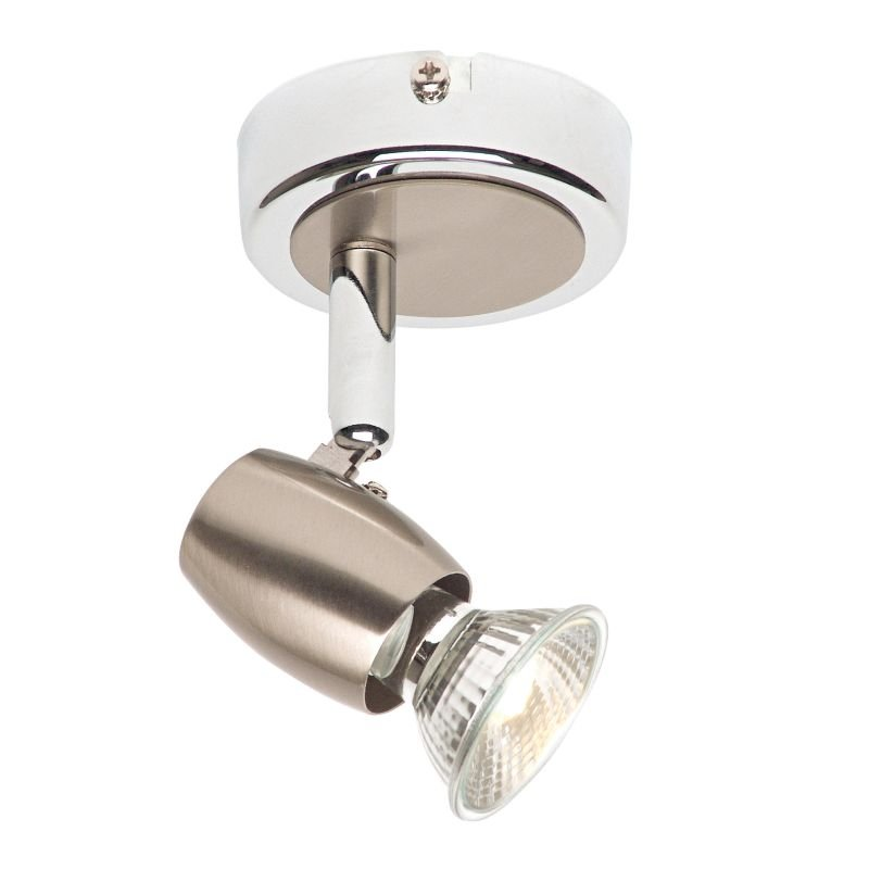 Saxby-G5501077 - Palermo - Brushed & Polished Chrome Single Spotlight