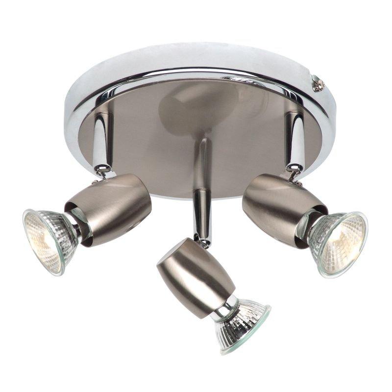 Saxby-G5503477 - Palermo - Brushed & Polished Chrome 3 Light Spotlights