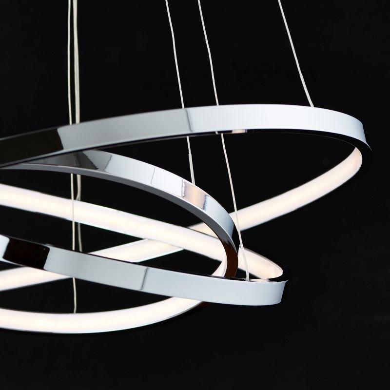 Endon-KLINE-3CH - Kline - LED Polished Chrome 3 Rings Hanging Pendant