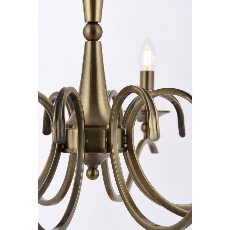 Endon-KORA-8AB - Kora - Decorative Antique Brass 8 Light Centre Fitting