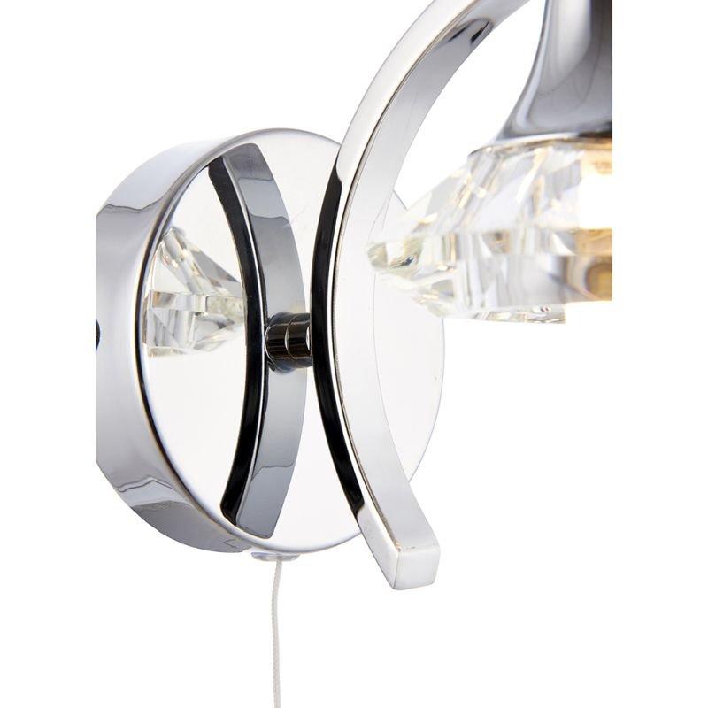 Endon-LANGELLA-1WBCH - Langella - Crystal & Chrome Single Wall Lamp
